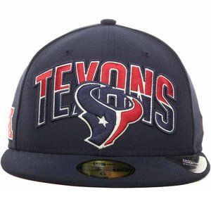 New Era Houston Texans Draft Fitted Hat 7 3/4